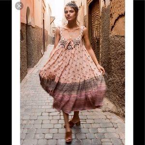 Spell & the Gypsy Lionheart Midi dress xxs NWT